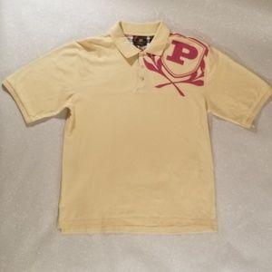 Phat Farm Polo Shirt Yellow with Pink Logo XL